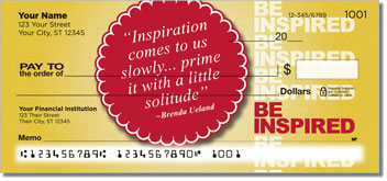 Be Inspired Personalized Checks
