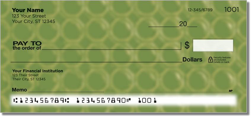 Bubble Pattern Personal Checks