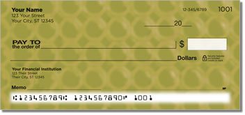 Bubble Pattern Personalized Checks