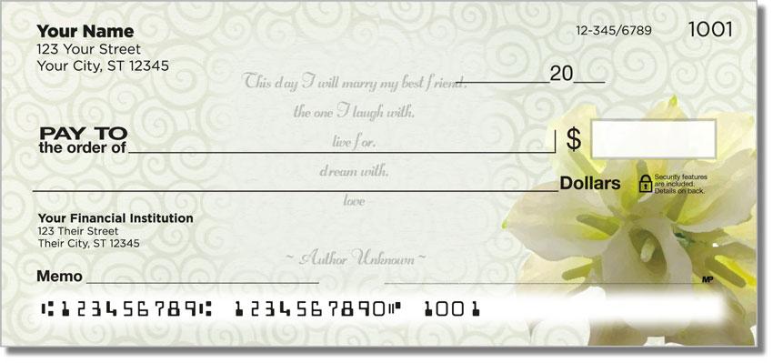 Wedding Personal Checks
