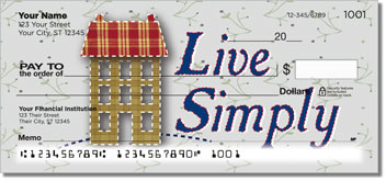 Primitive Cutout Personalized Checks