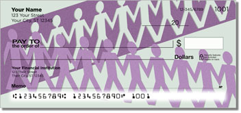 Paper Cutout Personalized Checks