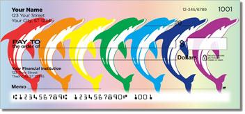 Rainbow Dolphin Personalized Checks
