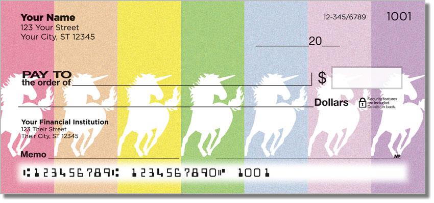 Proud Unicorn Personal Checks