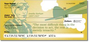 Amelia Earhart Personalized Checks