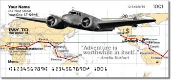 Amelia Earhart Theme Checks