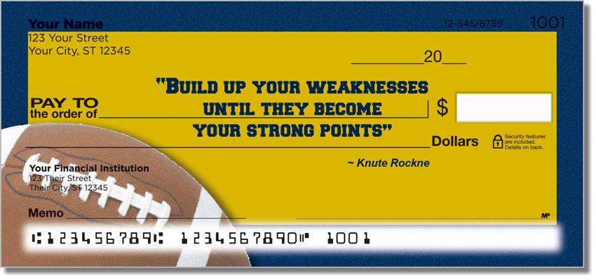 Knute Rockne Personal Checks