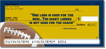 Knute Rockne Design Checks