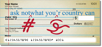 Proofreader Personalized Checks