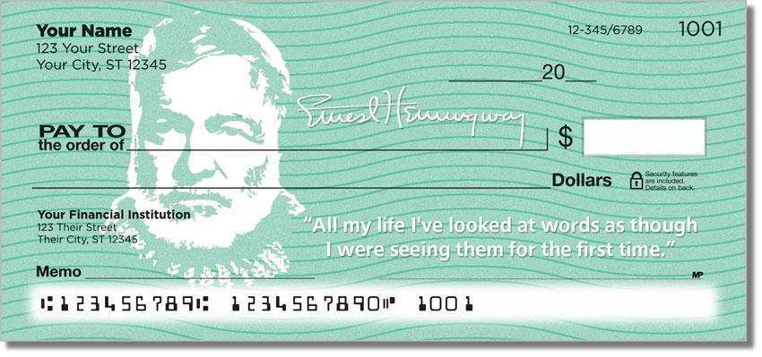 Ernest Hemingway Personal Checks