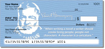 Ernest Hemingway Personalized Checks