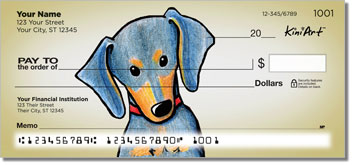 Doxie Series Personalized Checks