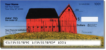Barns Close Up Personalized Checks