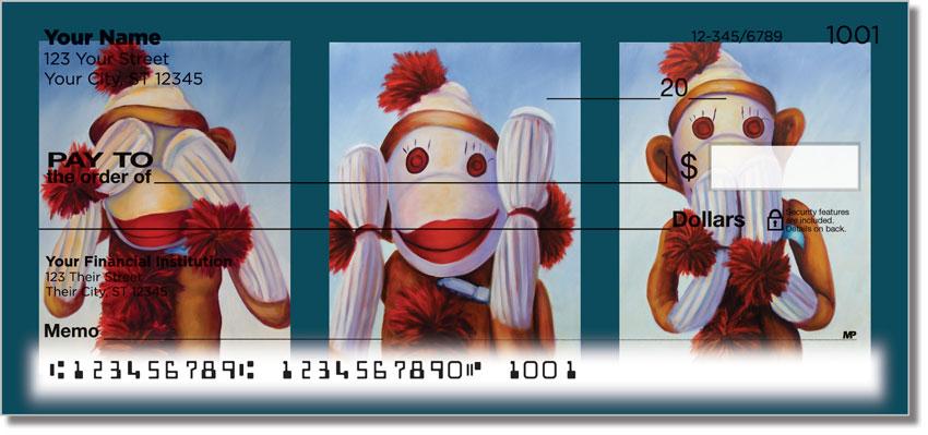 Sock Monkey Personal Checks
