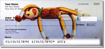 Sock Monkey Personalized Checks