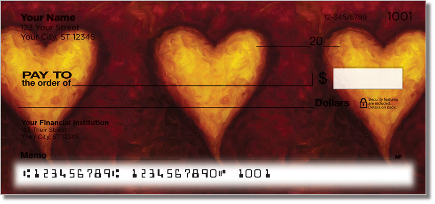 Heart of Gold Personal Checks