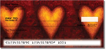 Heart of Gold Personalized Checks