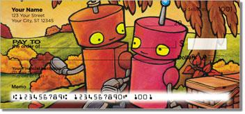 Robots In Love Personalized Checks