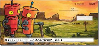 Robots In Love Theme Checks