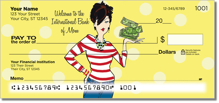 Mom on the Move Personal Checks