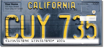 California License Plate Design Checks