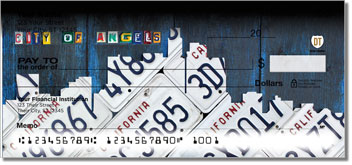 California License Plate Personalized Checks