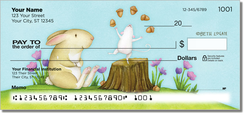 Mouse and Bunny Personal Checks