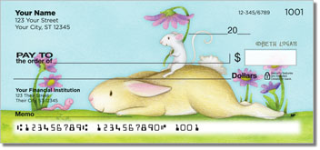 Mouse and Bunny Personalized Checks