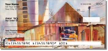 Houses and Barns Personalized Checks