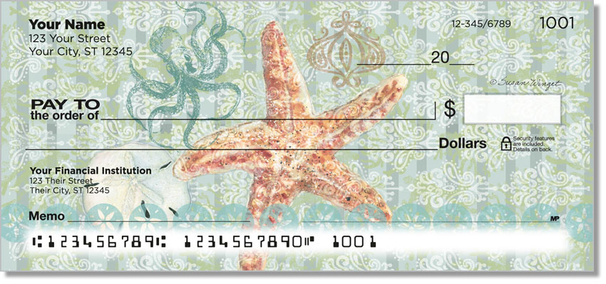 Boho Coastal Personal Checks