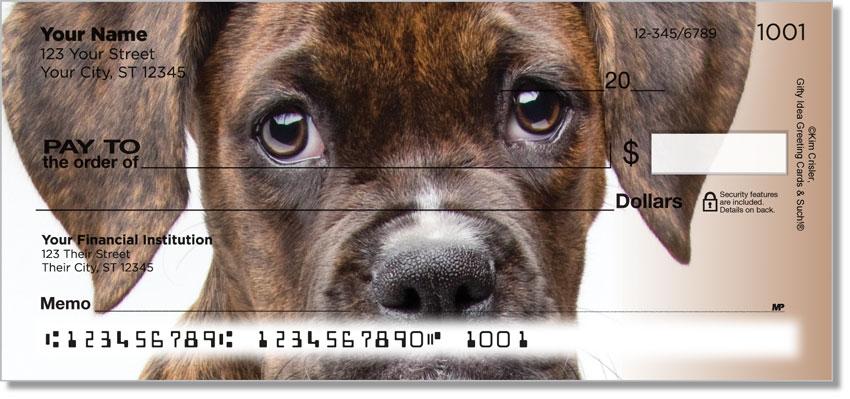 Boxer Pup Personal Checks