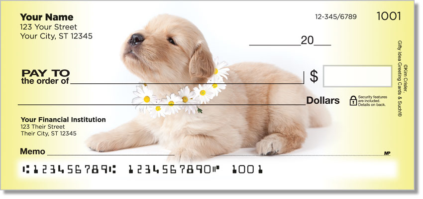 Pups in Bloom 3 Personal Checks