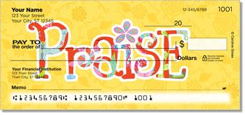 Joyful Floral Personalized Checks
