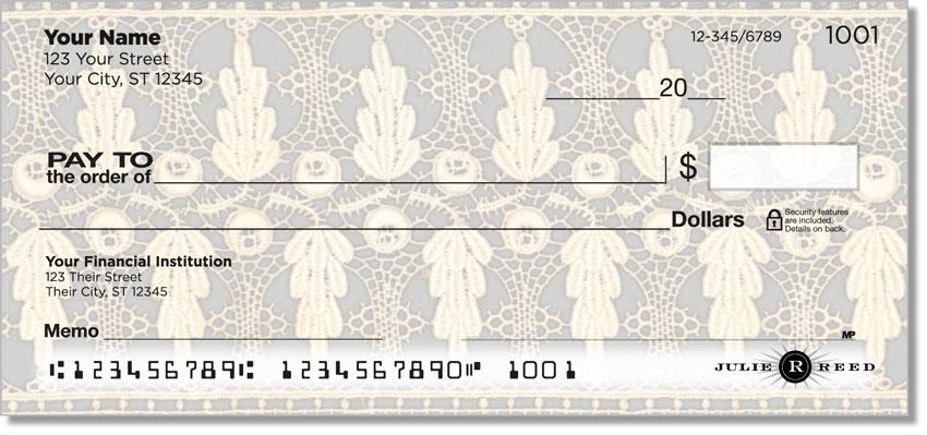 Lace Rose Personal Checks