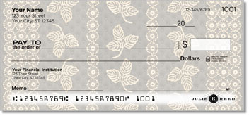 Lace Rose Personalized Checks