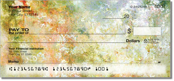 Floral Abstracts 2 Personalized Checks