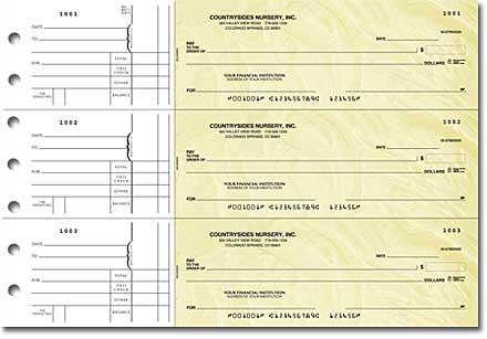 Goldenrod Personal Checks