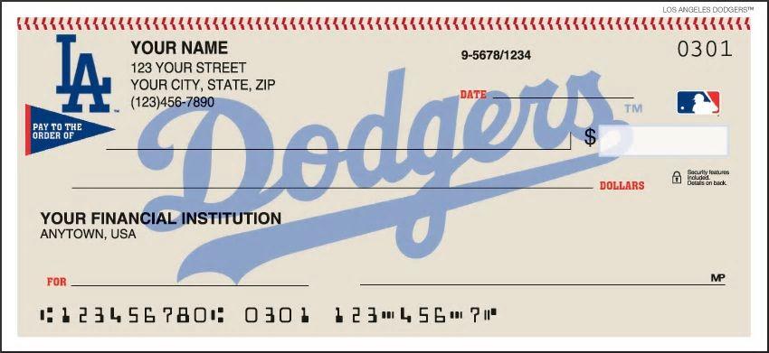 Los Angeles Dodgers Personal Checks