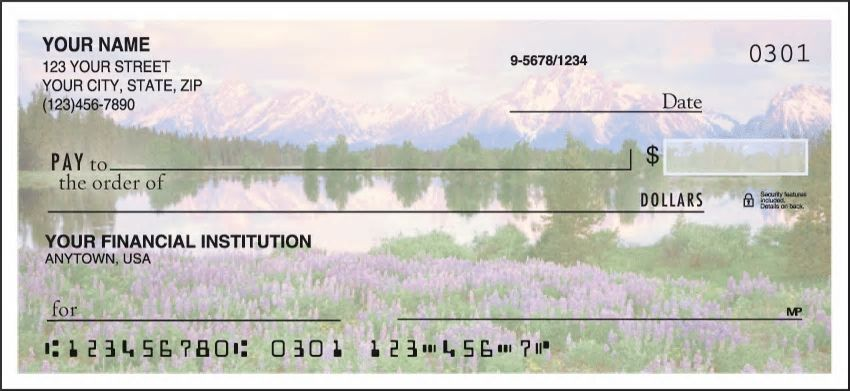 Natures Majesty Side Tear Personal Checks