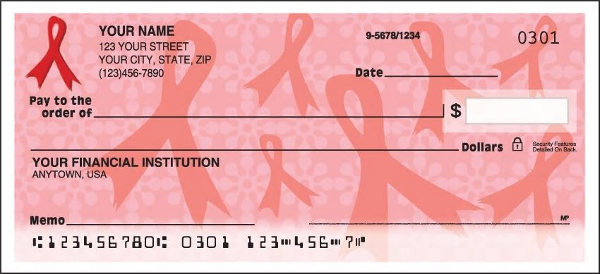 Ribbons of Support Red Personal Checks