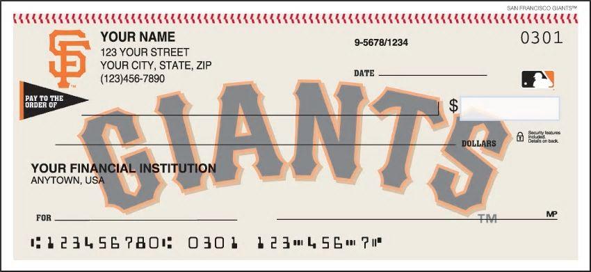 San Francisco Giants Personal Checks