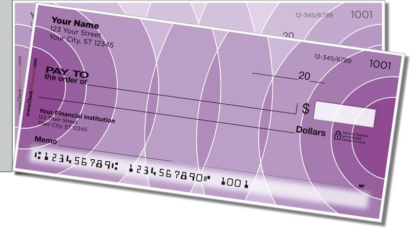 Purple Networker Side Tear Personal Checks