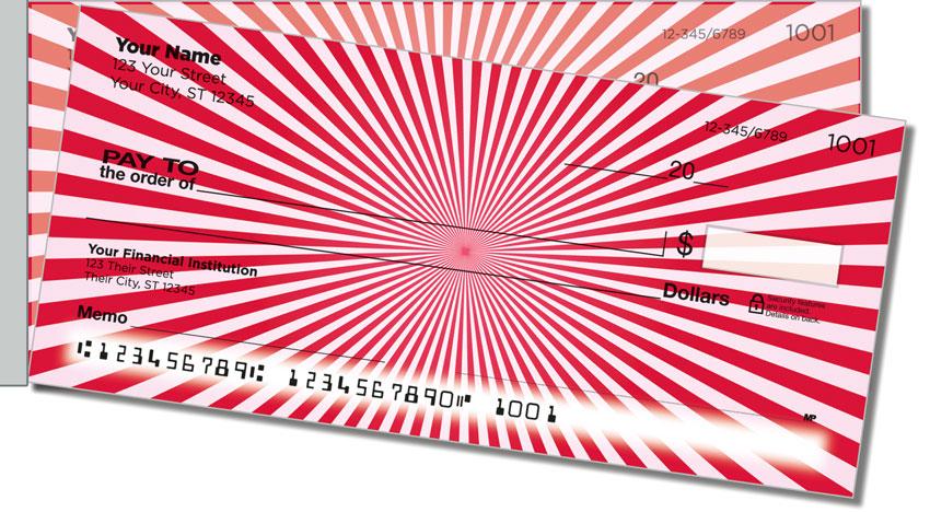 Red Starburst Side Tear Personal Checks