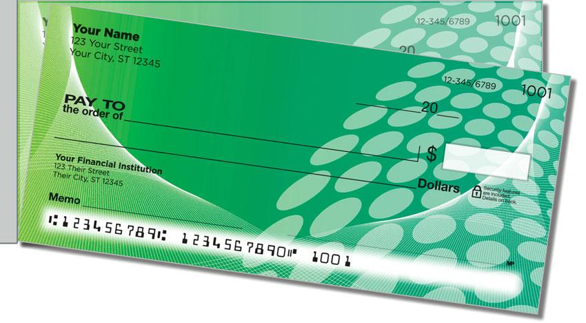 Green Contempo Side Tear Personal Checks