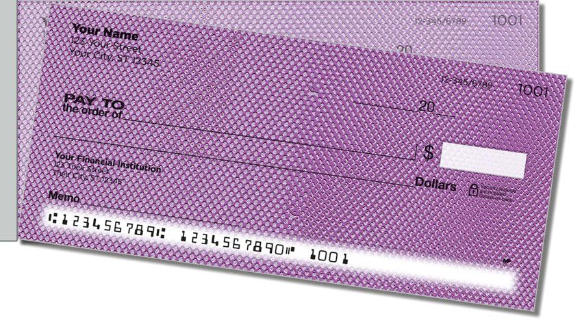 Purple Mesh Side Tear Personal Checks