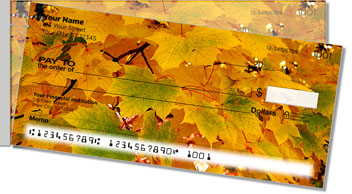 Colors of Fall Side Tear Personalized Checks