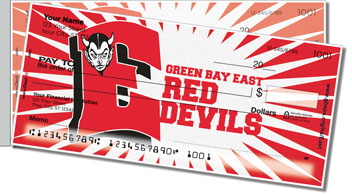 Green Bay East Athletic Side Tear Personalized Checks