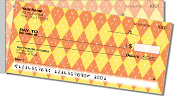 Argyle Side Tear Personalized Checks