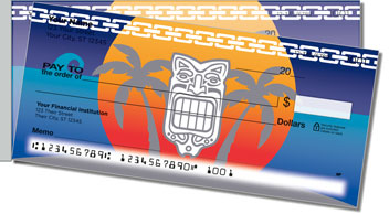 Tribal Mask Side Tear Personalized Checks