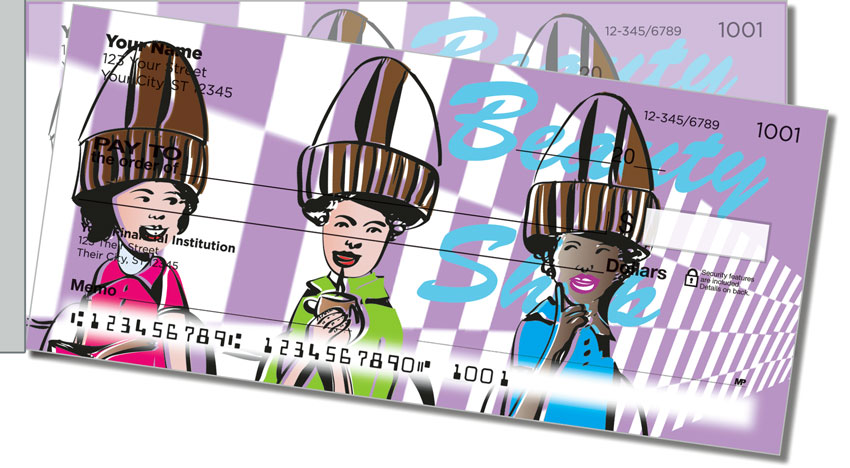 Beauty Shop Side Tear Personal Checks